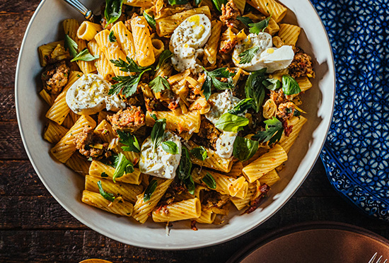 image for Sausage & Burrata Rigatoni